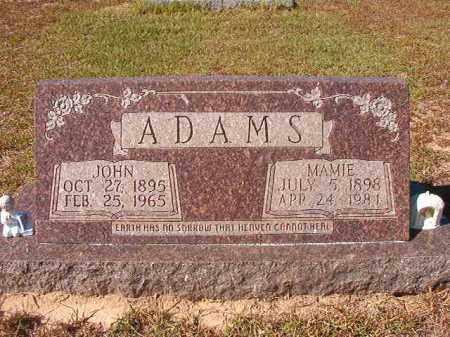 ADAMS, JOHN - Nevada County, Arkansas | JOHN ADAMS - Arkansas Gravestone Photos