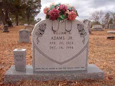 ADAMS, JR, WILLIAM A - Nevada County, Arkansas | WILLIAM A ADAMS, JR - Arkansas Gravestone Photos