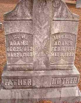 ADAMS, E H - Nevada County, Arkansas | E H ADAMS - Arkansas Gravestone Photos