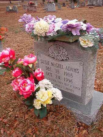MCGILL ADAMS, SUSIE - Nevada County, Arkansas | SUSIE MCGILL ADAMS - Arkansas Gravestone Photos