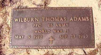 ADAMS (VETERAN WWII), WILBURN THOMAS - Nevada County, Arkansas | WILBURN THOMAS ADAMS (VETERAN WWII) - Arkansas Gravestone Photos