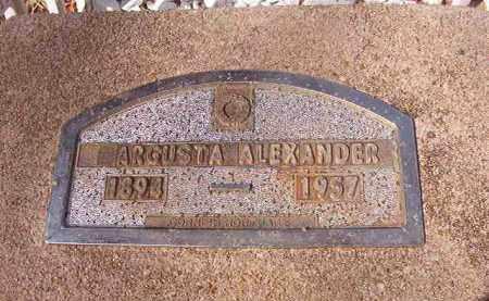 ALEXANDER, ARGUSTA - Nevada County, Arkansas | ARGUSTA ALEXANDER - Arkansas Gravestone Photos