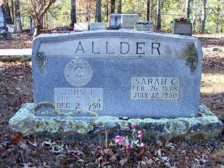 ALLDER, SARAH C. - Nevada County, Arkansas | SARAH C. ALLDER - Arkansas Gravestone Photos