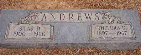 ANDREWS, SILAS D - Nevada County, Arkansas | SILAS D ANDREWS - Arkansas Gravestone Photos