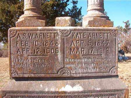 ARNETT, KATE (CLOSEUP) - Nevada County, Arkansas | KATE (CLOSEUP) ARNETT - Arkansas Gravestone Photos