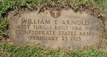 ARNOLD  (VETERAN CSA), WILLIAM EDWARD - Nevada County, Arkansas | WILLIAM EDWARD ARNOLD  (VETERAN CSA) - Arkansas Gravestone Photos