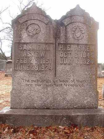 ASKEW, H E - Nevada County, Arkansas | H E ASKEW - Arkansas Gravestone Photos