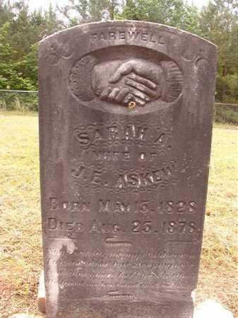 ASKEW, SARAH A - Nevada County, Arkansas | SARAH A ASKEW - Arkansas Gravestone Photos