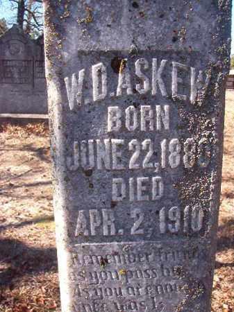 ASKEW, W D - Nevada County, Arkansas | W D ASKEW - Arkansas Gravestone Photos