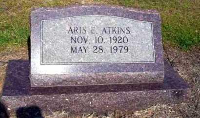 ATKINS, ARIS E - Nevada County, Arkansas   ARIS E ATKINS - Arkansas Gravestone Photos