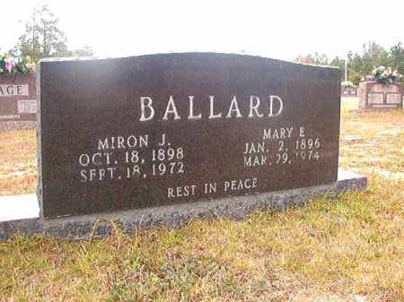 BALLARD, MIRON J - Nevada County, Arkansas | MIRON J BALLARD - Arkansas Gravestone Photos