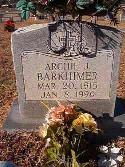 BARKHIMER, ARCHIE J - Nevada County, Arkansas | ARCHIE J BARKHIMER - Arkansas Gravestone Photos