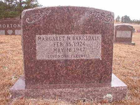 BARKSDALE, MARGARET N - Nevada County, Arkansas | MARGARET N BARKSDALE - Arkansas Gravestone Photos