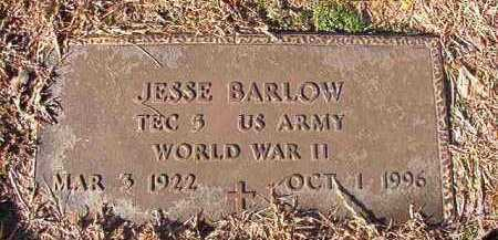 BARLOW (VETERAN WWII), JESSE - Nevada County, Arkansas   JESSE BARLOW (VETERAN WWII) - Arkansas Gravestone Photos