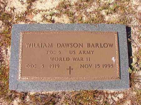 BARLOW (VETERAN WWII), WILLIAM DAWSON - Nevada County, Arkansas | WILLIAM DAWSON BARLOW (VETERAN WWII) - Arkansas Gravestone Photos