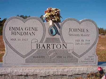 BARTON, JOHNIE S - Nevada County, Arkansas | JOHNIE S BARTON - Arkansas Gravestone Photos