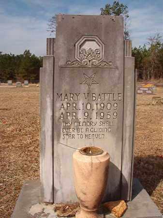 BATTLE, MARY V - Nevada County, Arkansas   MARY V BATTLE - Arkansas Gravestone Photos