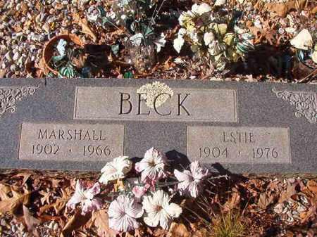 BECK, MARSHALL - Nevada County, Arkansas   MARSHALL BECK - Arkansas Gravestone Photos