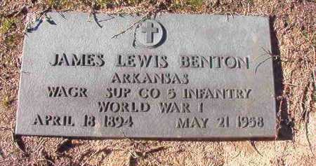 BENTON (VETERAN WWI), JAMES LEWIS - Nevada County, Arkansas | JAMES LEWIS BENTON (VETERAN WWI) - Arkansas Gravestone Photos