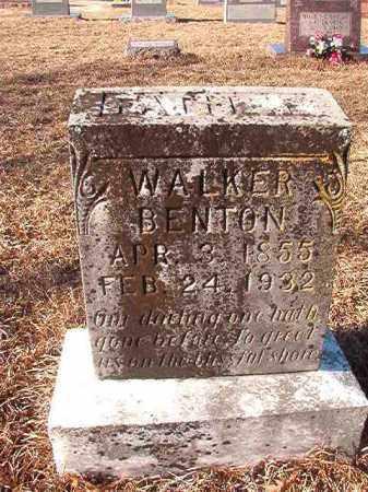 BENTON, WALKER - Nevada County, Arkansas   WALKER BENTON - Arkansas Gravestone Photos