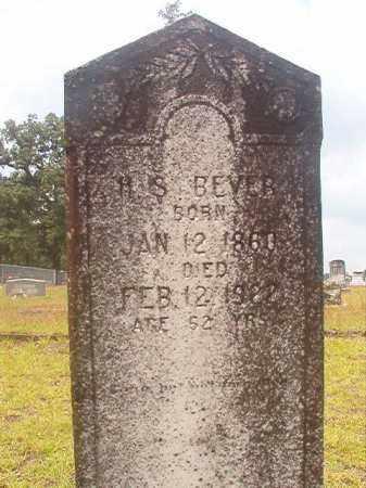 BEVER, H S - Nevada County, Arkansas   H S BEVER - Arkansas Gravestone Photos