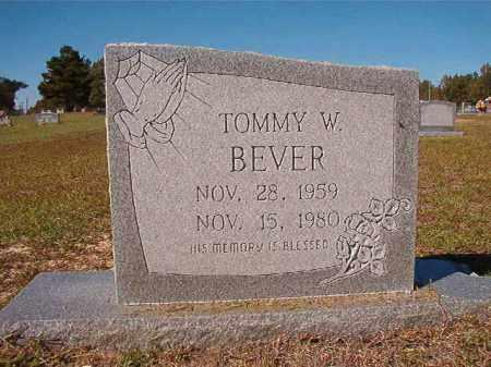 BEVER, TOMMY W - Nevada County, Arkansas   TOMMY W BEVER - Arkansas Gravestone Photos