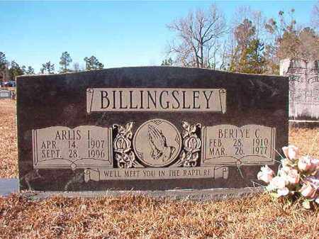 BILLINGSLEY, ARLIS I - Nevada County, Arkansas | ARLIS I BILLINGSLEY - Arkansas Gravestone Photos