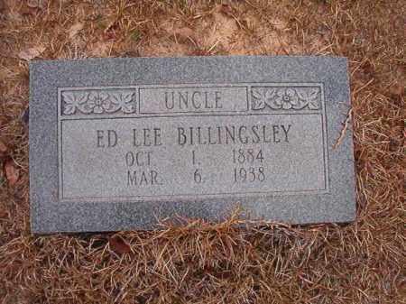 BILLINGSLEY, ED LEE - Nevada County, Arkansas   ED LEE BILLINGSLEY - Arkansas Gravestone Photos