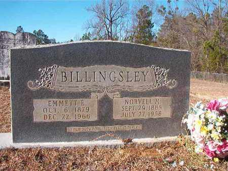 BILLINGSLEY, EMMETT E - Nevada County, Arkansas | EMMETT E BILLINGSLEY - Arkansas Gravestone Photos