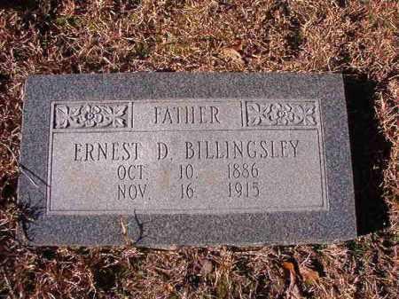 BILLINGSLEY, ERNEST D - Nevada County, Arkansas | ERNEST D BILLINGSLEY - Arkansas Gravestone Photos