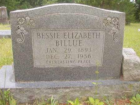 BILLUE, BESSIE ELIZABETH - Nevada County, Arkansas | BESSIE ELIZABETH BILLUE - Arkansas Gravestone Photos