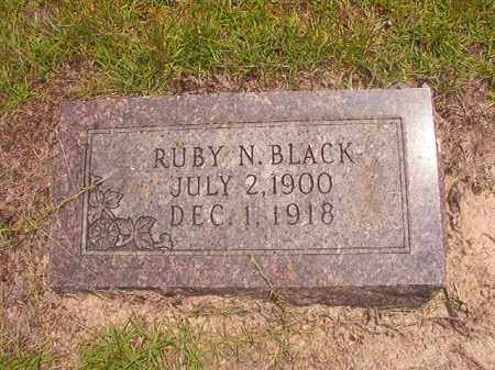 BLACK, RUBY N - Nevada County, Arkansas | RUBY N BLACK - Arkansas Gravestone Photos