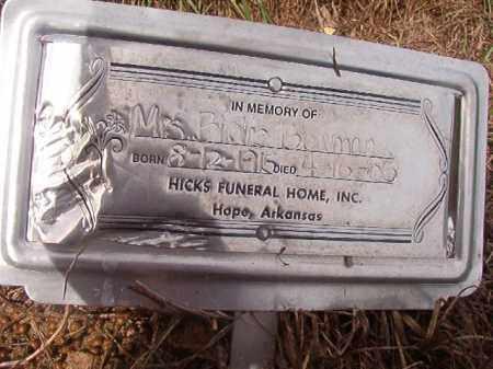 BOWMAN, MRS. BIRDIE - Nevada County, Arkansas | MRS. BIRDIE BOWMAN - Arkansas Gravestone Photos