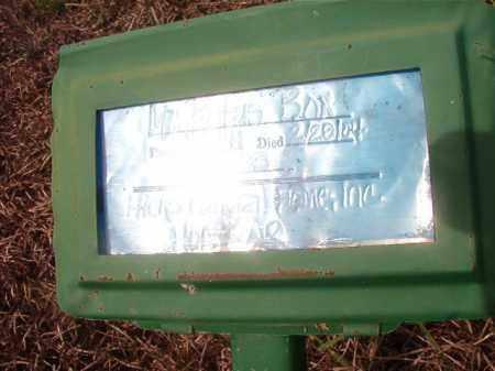 BOX, RUFUS - Nevada County, Arkansas | RUFUS BOX - Arkansas Gravestone Photos