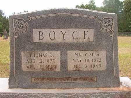 BOYCE, MARY ELLA - Nevada County, Arkansas   MARY ELLA BOYCE - Arkansas Gravestone Photos