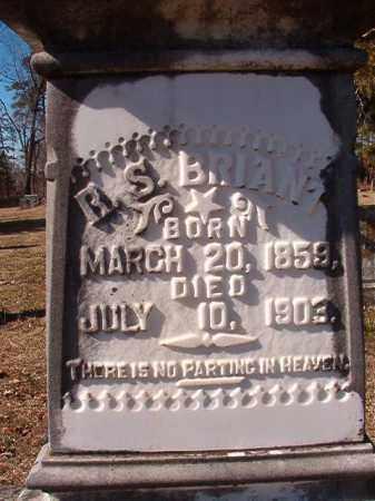 BRIANT, R S (CLOSEUP) - Nevada County, Arkansas   R S (CLOSEUP) BRIANT - Arkansas Gravestone Photos