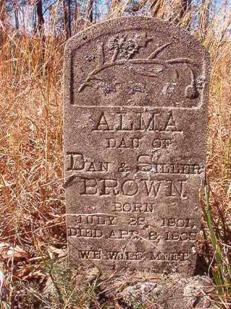 BROWN, ALMA - Nevada County, Arkansas   ALMA BROWN - Arkansas Gravestone Photos