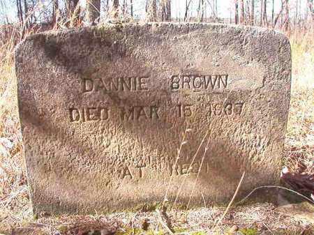 BROWN, DANNIE - Nevada County, Arkansas | DANNIE BROWN - Arkansas Gravestone Photos