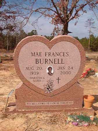 BURNELL, MAE FRANCES - Nevada County, Arkansas   MAE FRANCES BURNELL - Arkansas Gravestone Photos