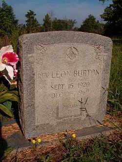 BURTON, REV, LEON - Nevada County, Arkansas   LEON BURTON, REV - Arkansas Gravestone Photos