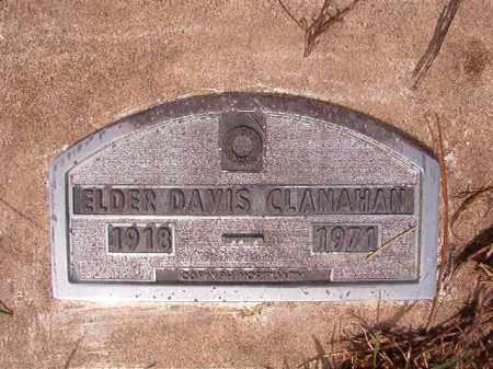 CLANAHAN, ELDER DAVIS - Nevada County, Arkansas   ELDER DAVIS CLANAHAN - Arkansas Gravestone Photos
