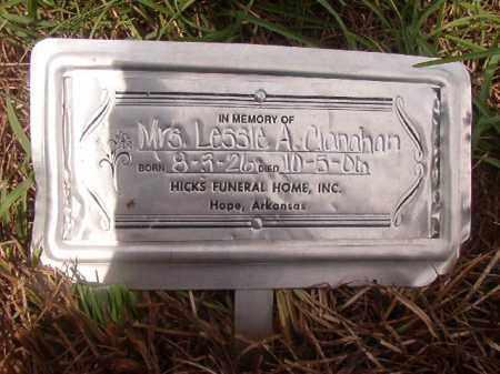 CLANAHAN, MRS. LESSIE A - Nevada County, Arkansas   MRS. LESSIE A CLANAHAN - Arkansas Gravestone Photos