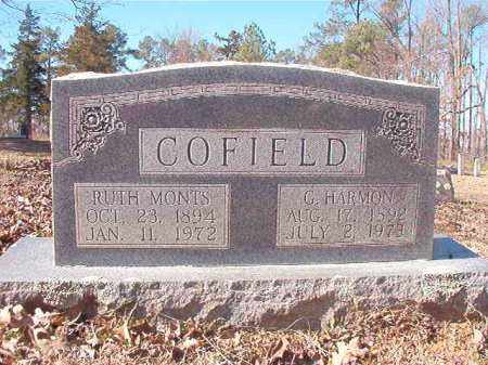 COFIELD, RUTH MONTS - Nevada County, Arkansas | RUTH MONTS COFIELD - Arkansas Gravestone Photos