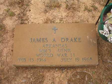 DRAKE (VETERAN WWII), JAMES A - Nevada County, Arkansas | JAMES A DRAKE (VETERAN WWII) - Arkansas Gravestone Photos