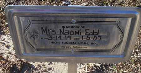 EDD, NAOMI - Nevada County, Arkansas   NAOMI EDD - Arkansas Gravestone Photos