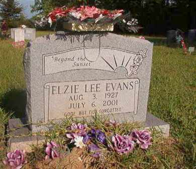 EVANS, ELZIE LEE - Nevada County, Arkansas   ELZIE LEE EVANS - Arkansas Gravestone Photos