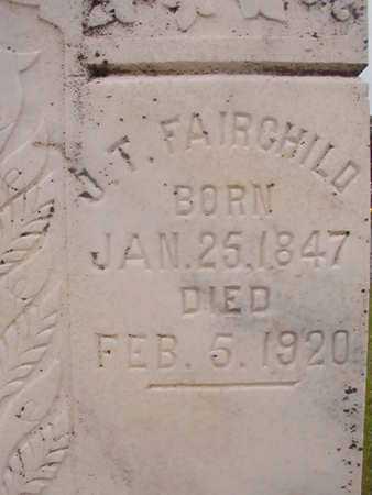 FAIRCHILD, JOHN THOMAS - Nevada County, Arkansas   JOHN THOMAS FAIRCHILD - Arkansas Gravestone Photos