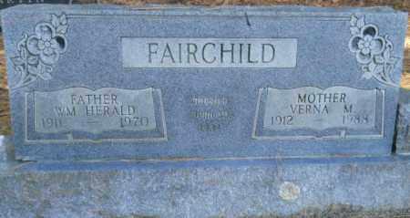 FAIRCHILD, WM HERALD - Nevada County, Arkansas | WM HERALD FAIRCHILD - Arkansas Gravestone Photos