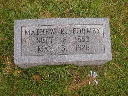 FORMBY, MATHEW R - Nevada County, Arkansas | MATHEW R FORMBY - Arkansas Gravestone Photos
