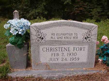 FORT, CHRISTENE - Nevada County, Arkansas | CHRISTENE FORT - Arkansas Gravestone Photos